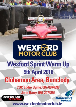 Wex Apr 16 sprint poster